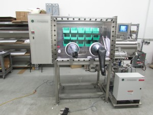 LC Technology glovebox with cold well and freezer